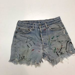 Levi's Shorts - Levi's high waisted cutoff jean shorts 28